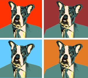 Andy Wardog's Pop Art Painting of Johnnie Frenchie